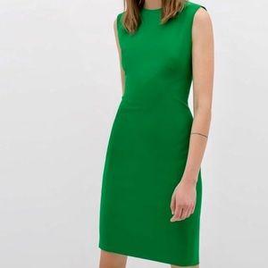 Zara Emerald Green Stretch Sleeveless Sheath Dress